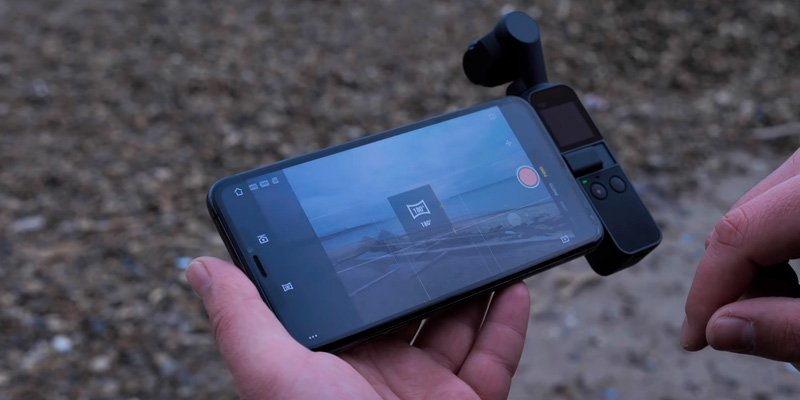 DJI Osmo Pocket Экшн-камера в использовании